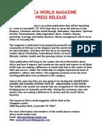 Press Release Africa World 2014