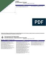 UWI Exam Timetable Draft 1
