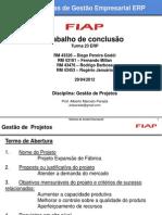 Trabalho de Conclusão - Gestão de Projetos