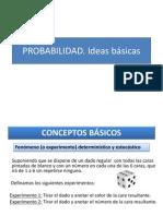 c.probabilidad. Ideas Básicas