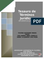 Diccionario - Tesauro de Terminos Juridicos