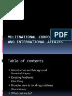 Multinational Corporations Summary Presentation