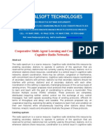 IEEE 2014 NS2 NETWORKING PROJECT Cooperative Multi Agenet Learning and Coordination for Cognitive Radio Networks