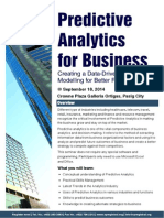 Predictive Analytics Workshop