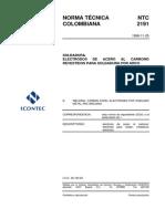 NTC 2191 Electrodos revestidos para soldaduras de aceros al Carbono.pdf