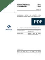 NTC 3568 Metal de aporte para soldeo.pdf