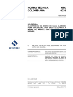 NTC 4039 Electrodo Tubular para Soldar por Arco Eléctrico Aceros Bajamente Aleados..pdf