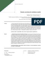 Density Correction for Turbulence Model