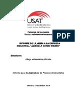 Ficha de Visita Técnica a empresa Cerro Prieto