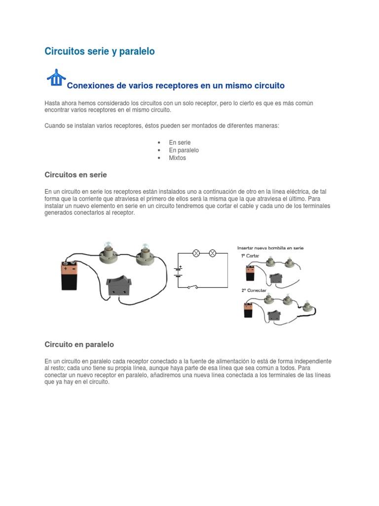 Circuito Serie Y Paralelo : Circuitos serie y paralelo