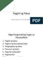 Pagpili ng paksa (Thesis)