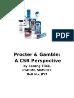 CSR Project on P&G