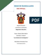 A1 U3 Métodos de Investigación. Diagnostico Educativo