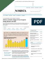 México Asciende Al Lugar 39 en El Reporte Doing Business Del BM _ El Economista