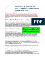 Ebola, Toxic Mold, & Bioterrorism Decontamination Training for Indiana Rescue Squads from E.H.A.