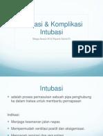 Indikasi dan Komplikasi Intubasi