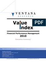 2010 Ventana Research Value Index Financial Performance Management Report Executive Summary