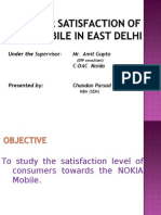 Consumer Behaviour and Customer Satisfaction Towards Nokia Mobile06