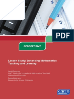 Lesson Study- Enhancing Mathematics Teaching and Learning