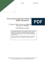 Isrc Handbook 2003