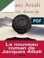 eBook Jacques Attali -Notre Vie Disent-ils