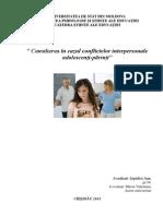 conflictul interpersonal adolescent-parinte