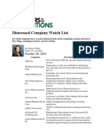Distressed Company Watch List