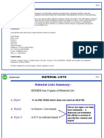 Material Lists Mld