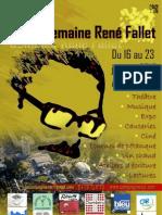 Programme de la Semaine René Fallet du 16 au 23 janvier 2010 - Cie XYZ