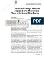 An Improved Design Method for Stepped Line Microwave Filters With Broad Stop Bands