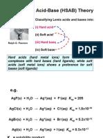 Hard-Soft Acid-Base (HSAB) Theory