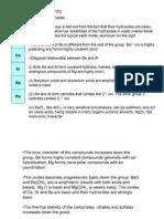 (III) Group 2 Elements