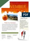 kindergarten november 2014 newsletter