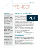 kindergarten september newsletter 2014