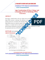 Analysis and Design Considerations of Zero-Voltage and Zero-Current-Switching (ZVZCS) Full-Bridge PWM Converters
