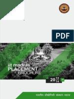 IIT Madras Placement Brochure
