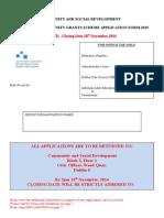 2015 Community Grants Application