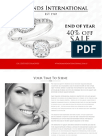 Diamonds International - 40% off End of Year Sales!