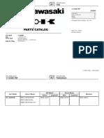 Parts Manual KX250F11