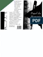 ACHARD, Pierre, Et Al. Papel Da Memoria