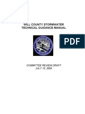 Storm Water Technical Guidance Manual | Storm Drain