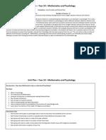 Mathematics and Psychology Unit Plan