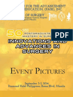 Event Pictures of the UP-PGH Department of Surgery's 50th Postgraduate Course