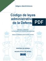 Codigo de Leyes Administrativas de La Defensa