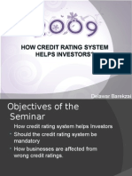 How Credit Rating System Helps Investors