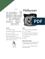 4 HALLOWEEN Crosswords