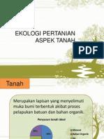 Ekologi Pertanian Aspek Tanah Fix