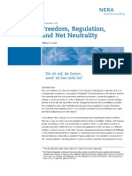 Freedom, Regulation and Net Neutrality