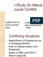 Case Study on Maruti Suzuki Conflict