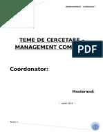 Proiect Management Comparat